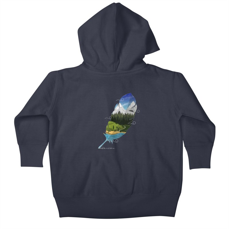 Wherever the wind take me final Kids Baby Zip-Up Hoody by Sebasebi