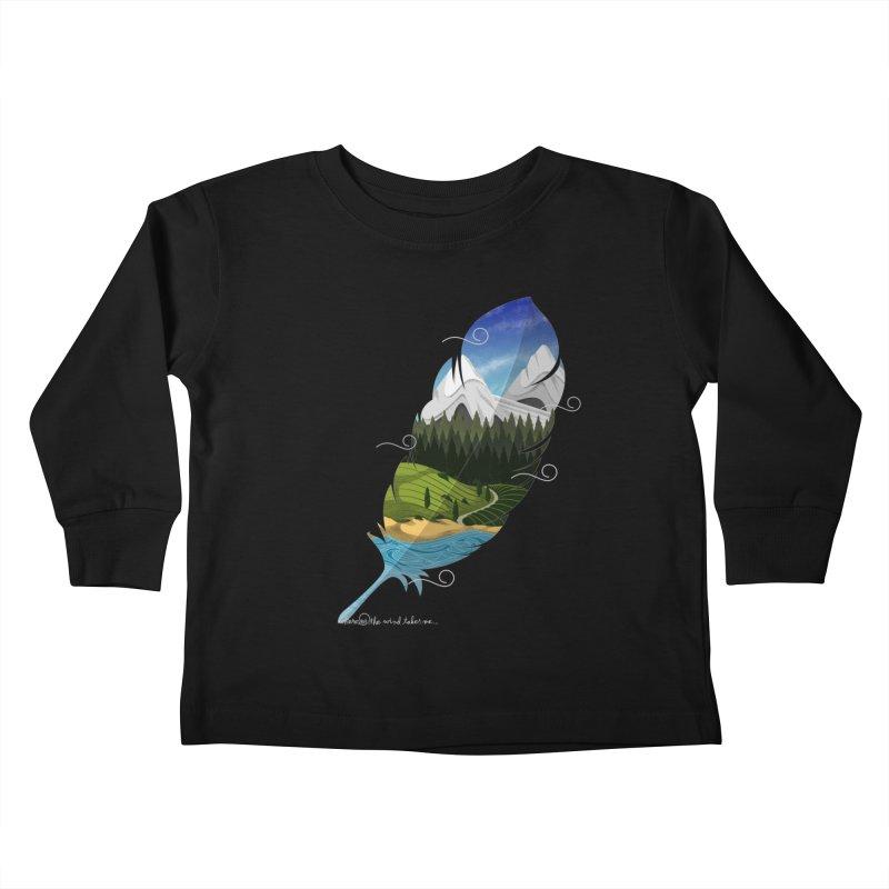 Wherever the wind take me final Kids Toddler Longsleeve T-Shirt by Sebasebi