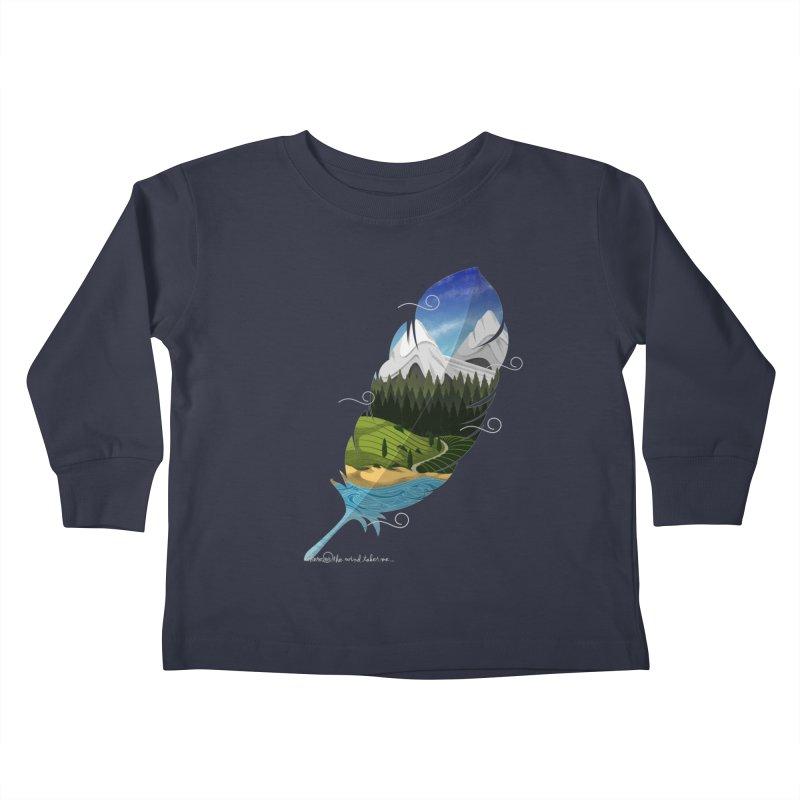 Wherever the wind take me Kids Toddler Longsleeve T-Shirt by Sebasebi