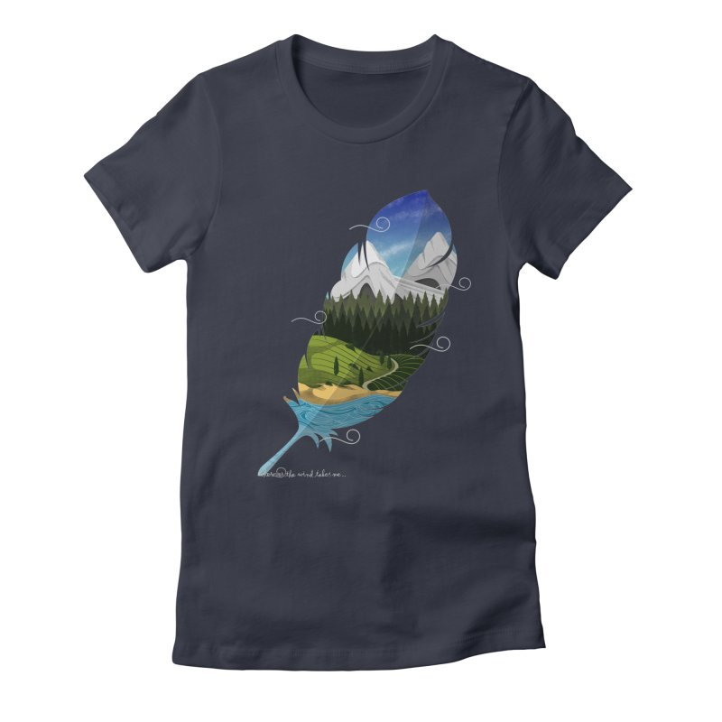 Wherever the wind take me Women's Fitted T-Shirt by Sebasebi
