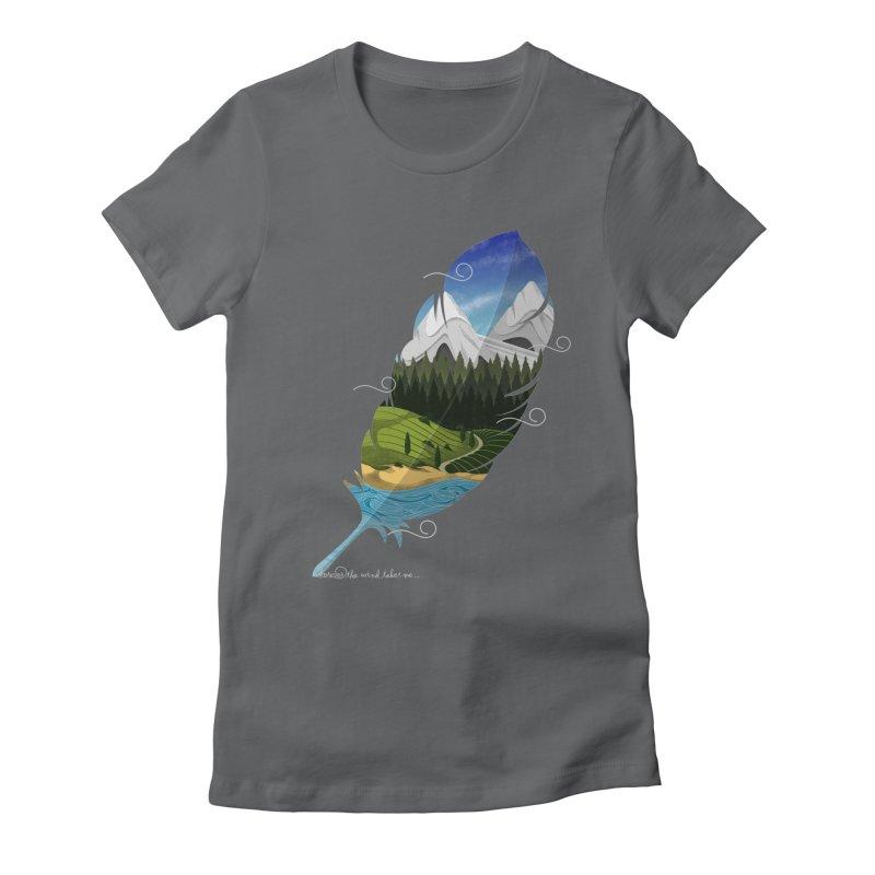 Wherever the wind take me Women's Fitted T-Shirt by Sebasebi