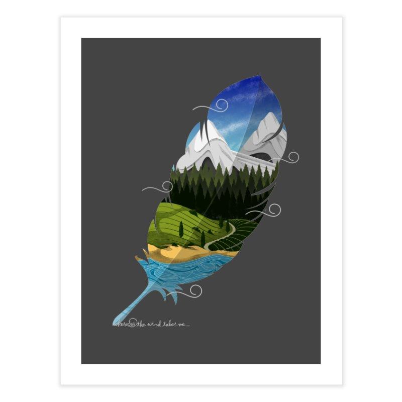 Wherever the wind take me final Home Fine Art Print by Sebasebi