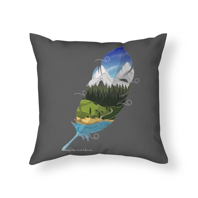 Wherever the wind take me Home Throw Pillow by Sebasebi