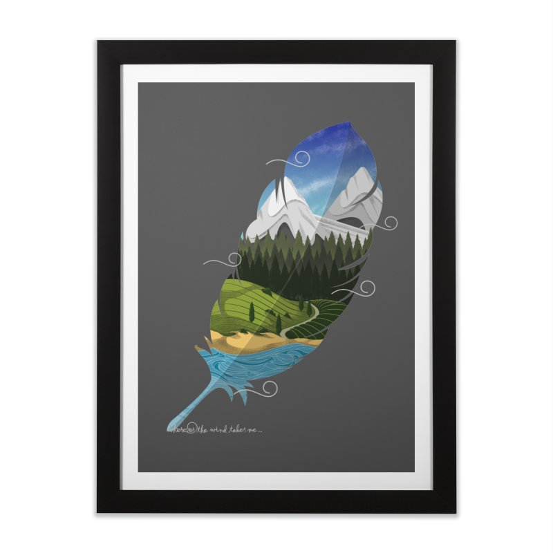Wherever the wind take me Home Framed Fine Art Print by Sebasebi