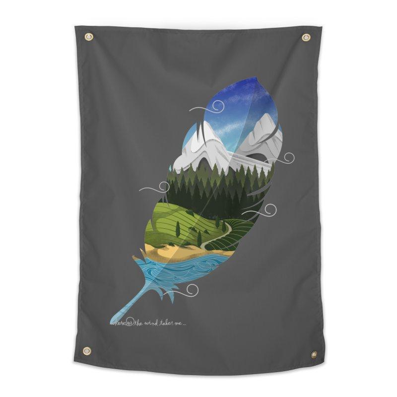Wherever the wind take me Home Tapestry by Sebasebi