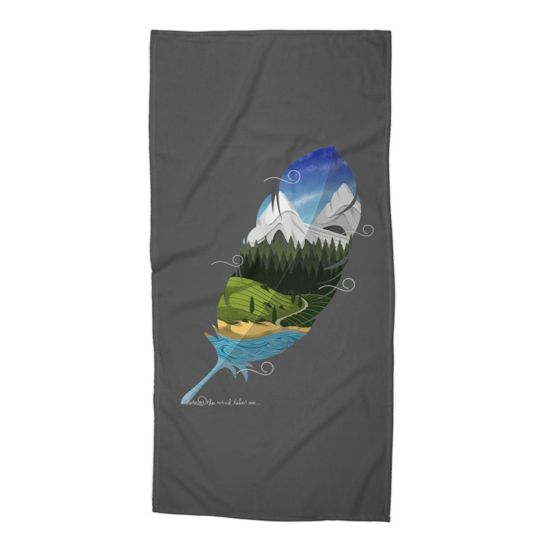 Wherever the wind take me Accessories Beach Towel by Sebasebi