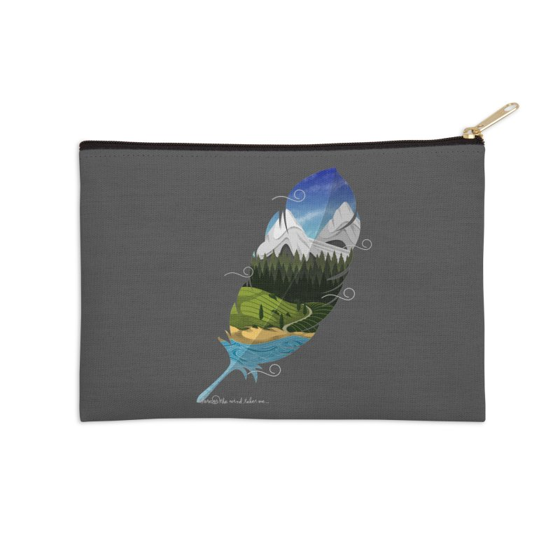 Wherever the wind take me Accessories Zip Pouch by Sebasebi