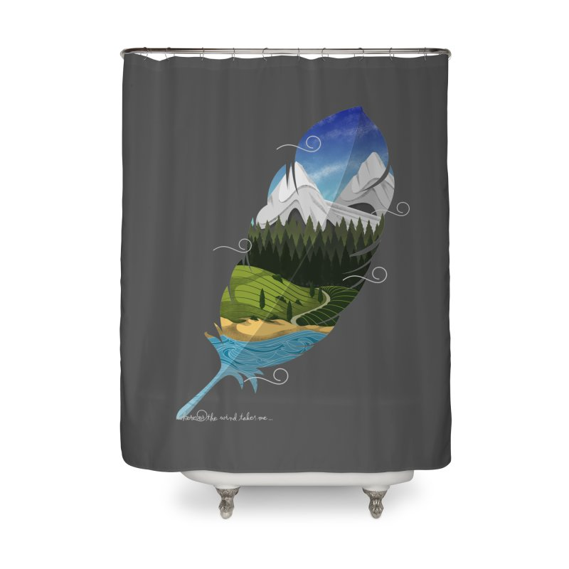 Wherever the wind take me Home Shower Curtain by Sebasebi