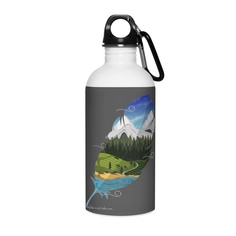 Wherever the wind take me final Accessories Water Bottle by Sebasebi