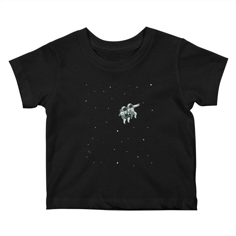 Space lost Kids Baby T-Shirt by Sebasebi