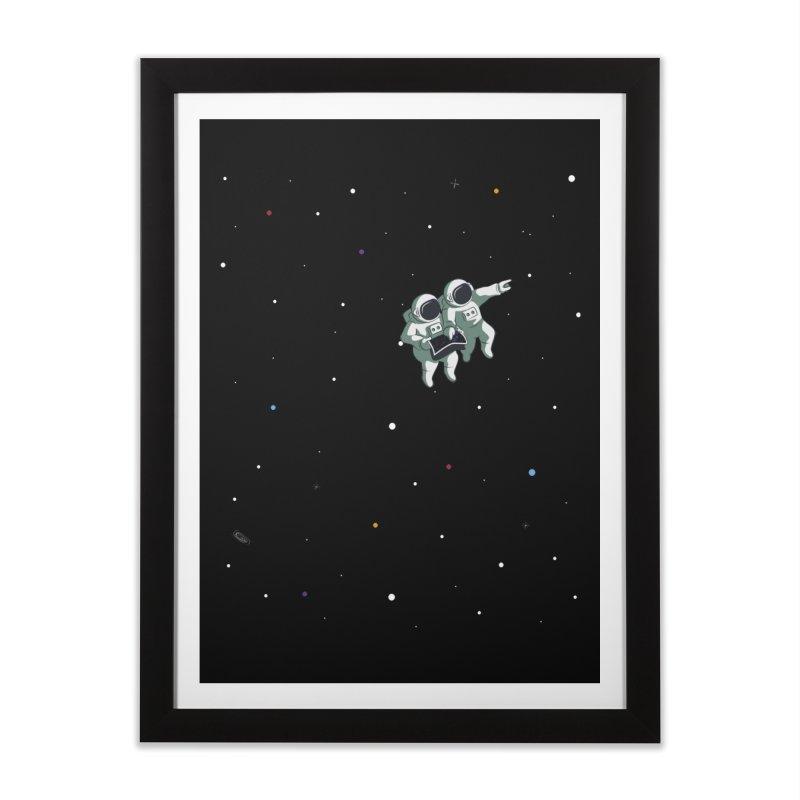 Space lost Home Framed Fine Art Print by Sebasebi