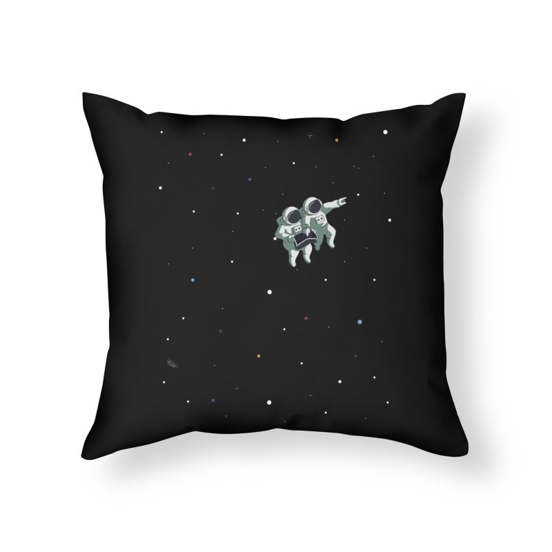 Space lost Home Throw Pillow by Sebasebi