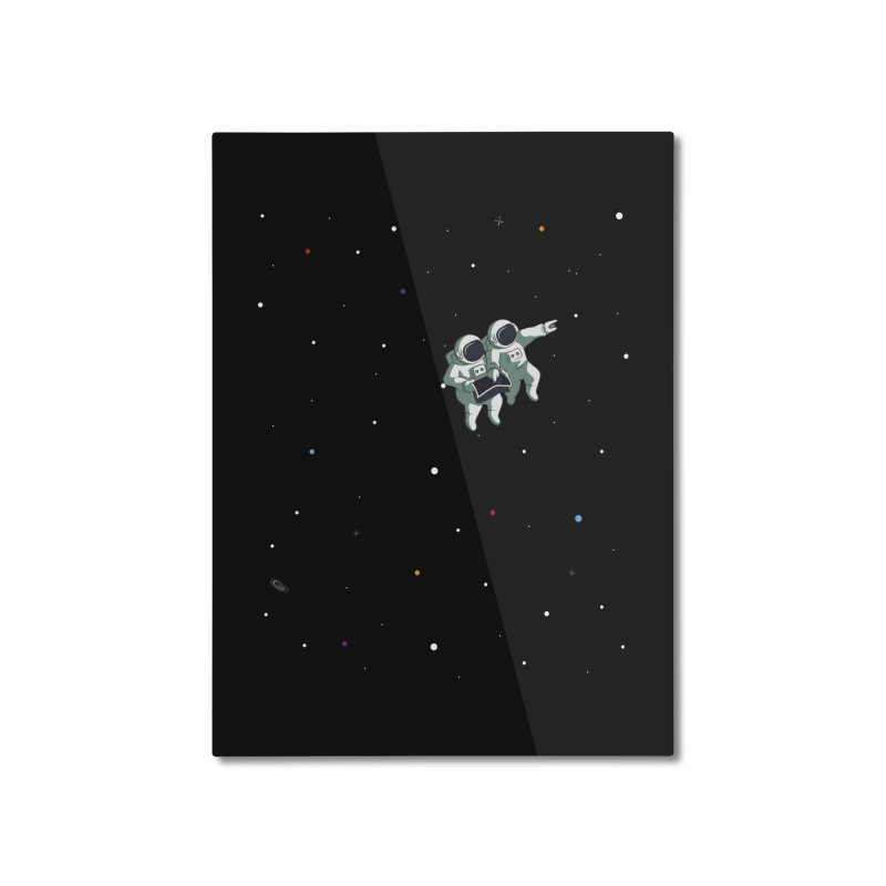 Space lost Home Mounted Aluminum Print by Sebasebi