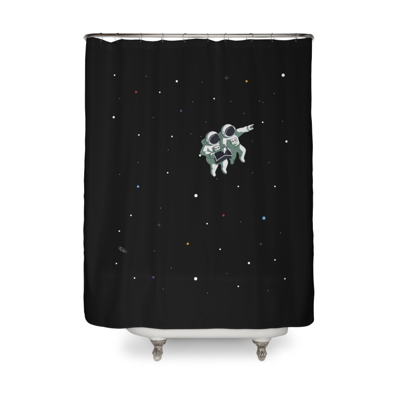 Space lost Home Shower Curtain by Sebasebi