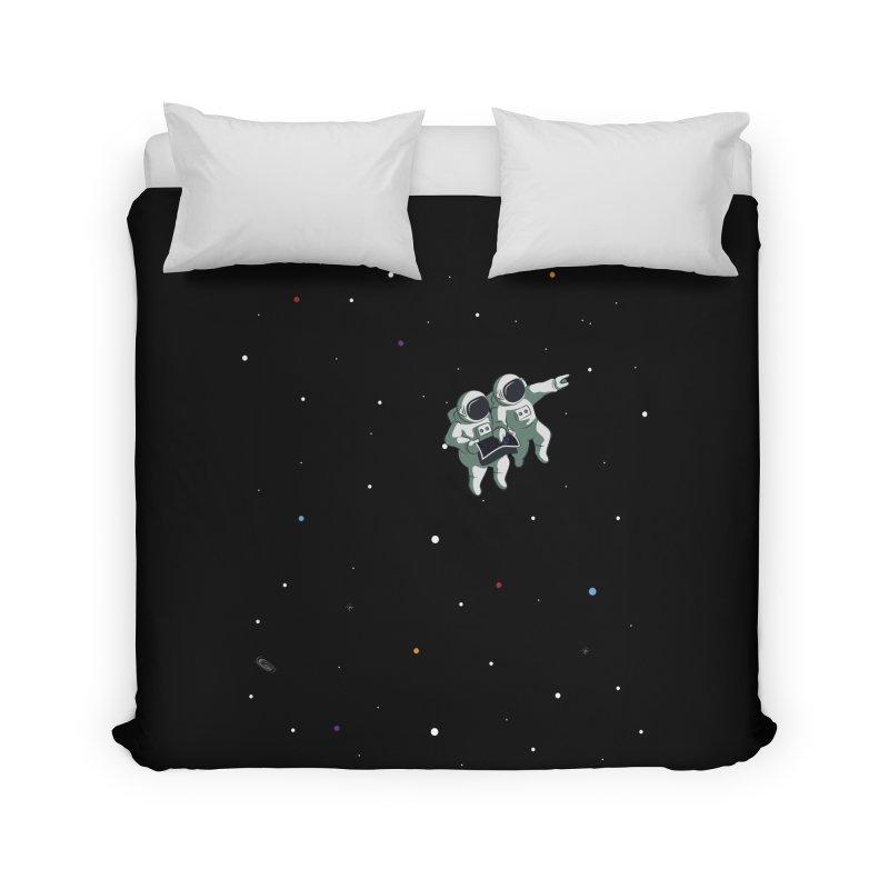 Space lost Home Duvet by Sebasebi