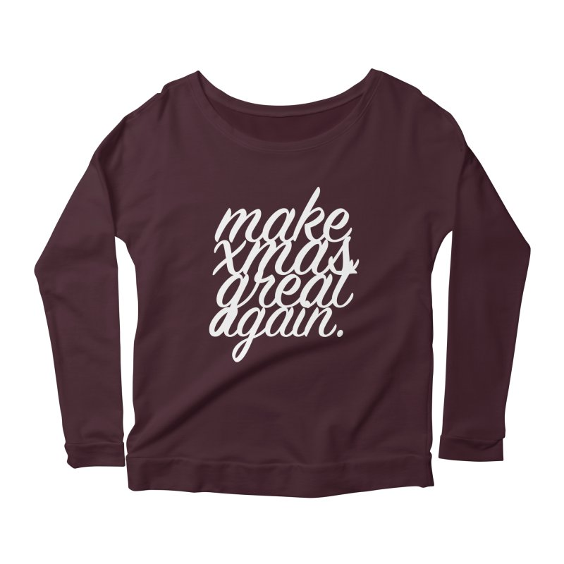 MXGA 2 Women's Scoop Neck Longsleeve T-Shirt by sebastian's Artist Shop