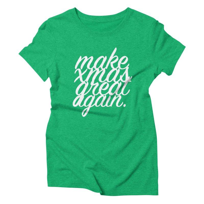 MXGA 2 Women's Triblend T-Shirt by sebastian's Artist Shop