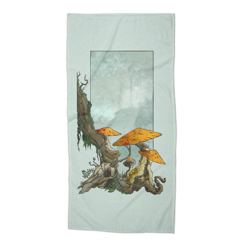 The Thaw Accessories Beach Towel by Sebastian Illustation's Chop Shop