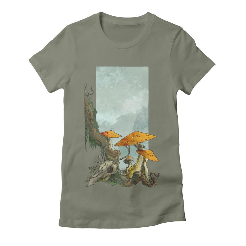 The Thaw Women's Fitted T-Shirt by Sebastian Illustation's Chop Shop