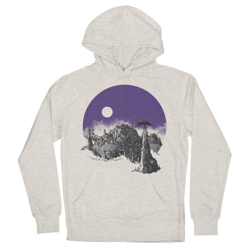 Cursed Grounds Women's French Terry Pullover Hoody by Sebastian Illustation's Chop Shop
