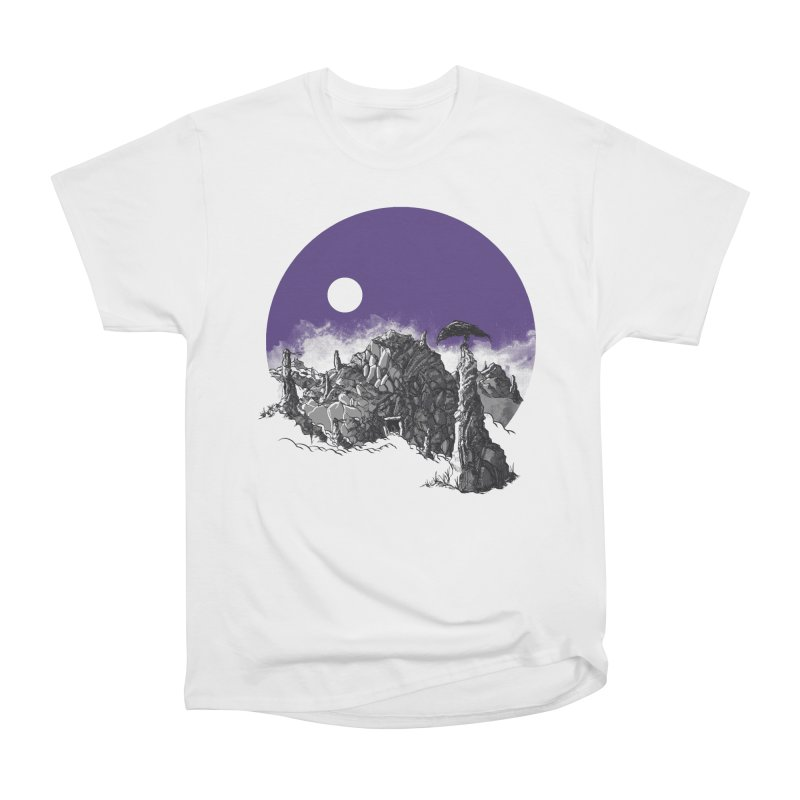 Cursed Grounds Women's Heavyweight Unisex T-Shirt by Sebastian Illustation's Chop Shop