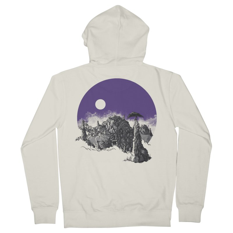 Cursed Grounds Women's French Terry Zip-Up Hoody by Sebastian Illustation's Chop Shop
