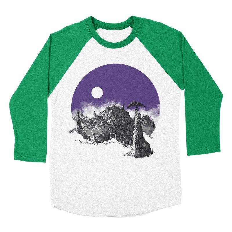 Cursed Grounds Women's Baseball Triblend T-Shirt by Sebastian Illustation's Chop Shop
