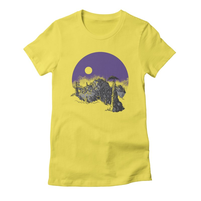 Cursed Grounds Women's Fitted T-Shirt by Sebastian Illustation's Chop Shop