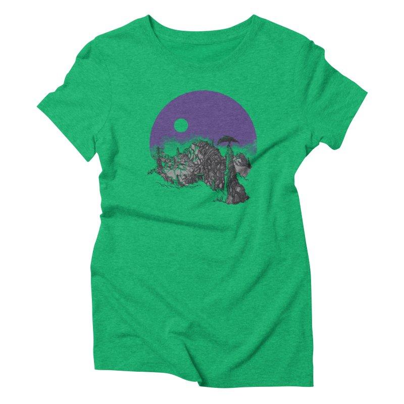 Cursed Grounds Women's Triblend T-Shirt by Sebastian Illustation's Chop Shop