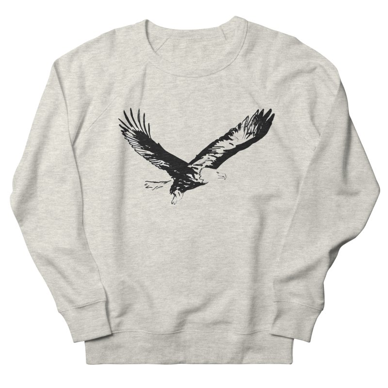 eagle Men's French Terry Sweatshirt by sebastiansrd's Artist Shop
