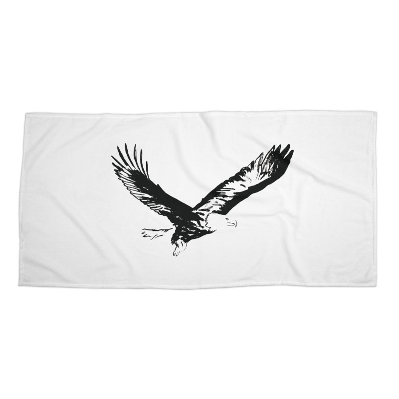 eagle Accessories Beach Towel by sebastiansrd's Artist Shop