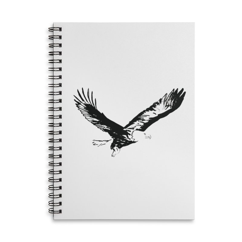 eagle Accessories Lined Spiral Notebook by sebastiansrd's Artist Shop