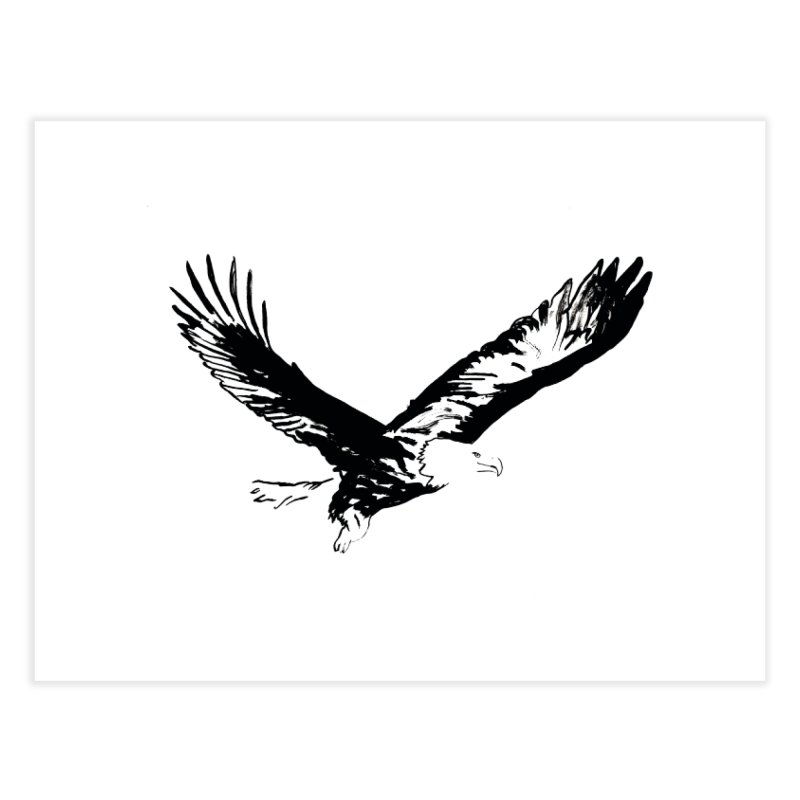 eagle Home Fine Art Print by sebastiansrd's Artist Shop