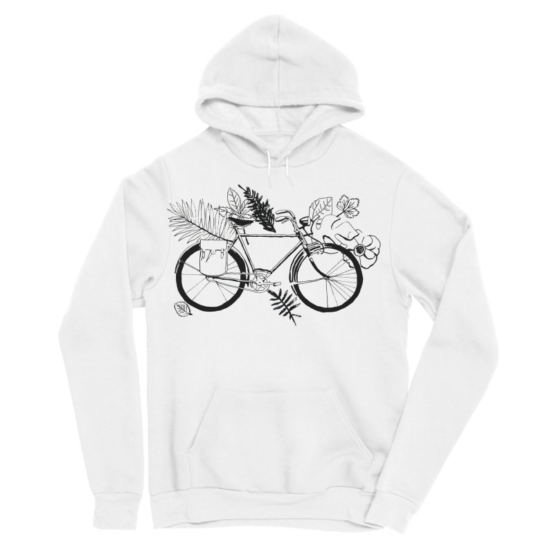 bike with plants Men's Sponge Fleece Pullover Hoody by sebastiansrd's Artist Shop