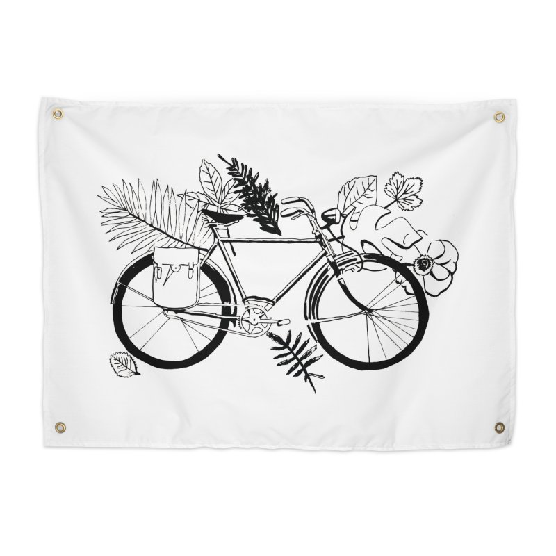 bike with plants Home Tapestry by sebastiansrd's Artist Shop
