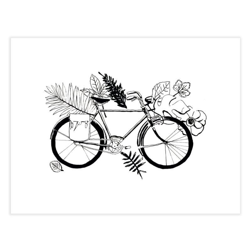 bike with plants Home Fine Art Print by sebastiansrd's Artist Shop
