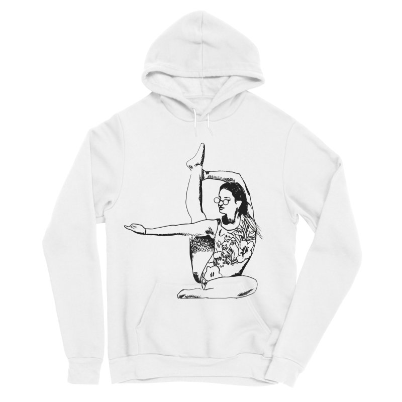 girl doing yoga Men's Sponge Fleece Pullover Hoody by sebastiansrd's Artist Shop
