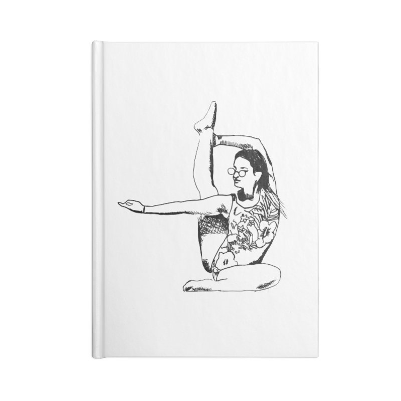 girl doing yoga Accessories Lined Journal Notebook by sebastiansrd's Artist Shop