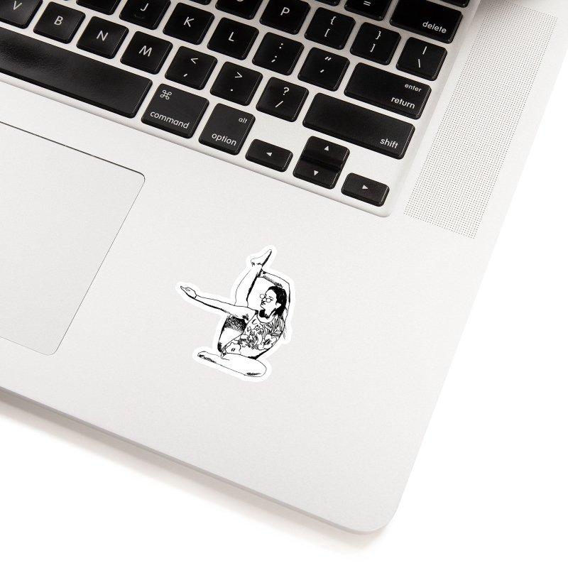 girl doing yoga Accessories Sticker by sebastiansrd's Artist Shop