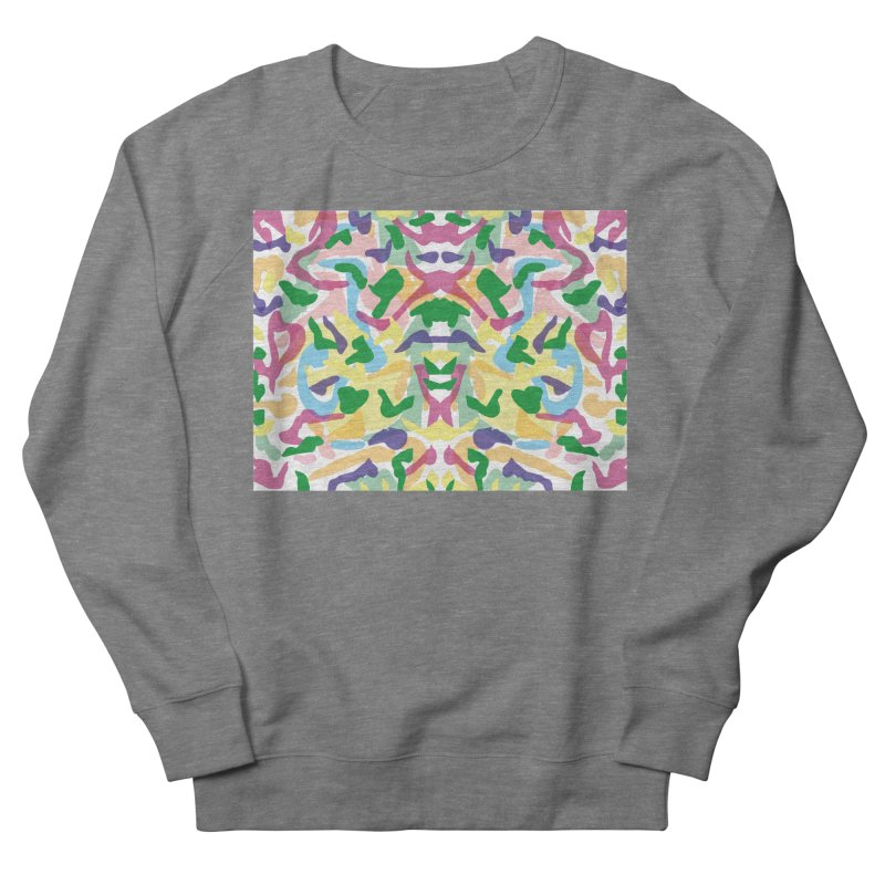 colored shapes  Women's French Terry Sweatshirt by sebastiansrd's Artist Shop
