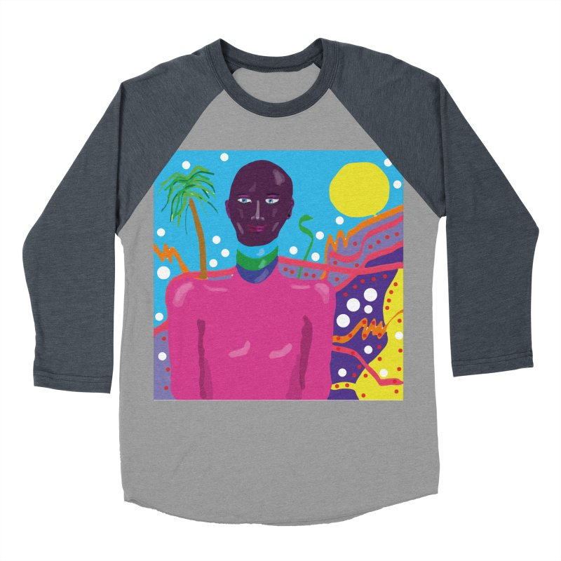 Fantasy portrait Men's Baseball Triblend Longsleeve T-Shirt by sebastiansrd's Artist Shop