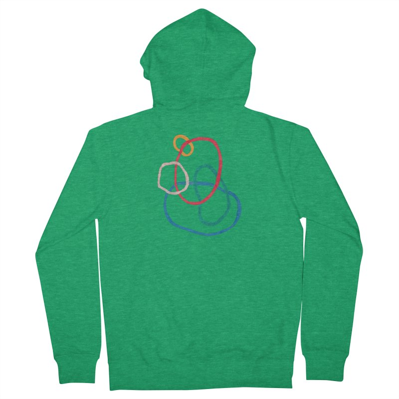 abstract 1 Men's French Terry Zip-Up Hoody by sebastiansrd's Artist Shop