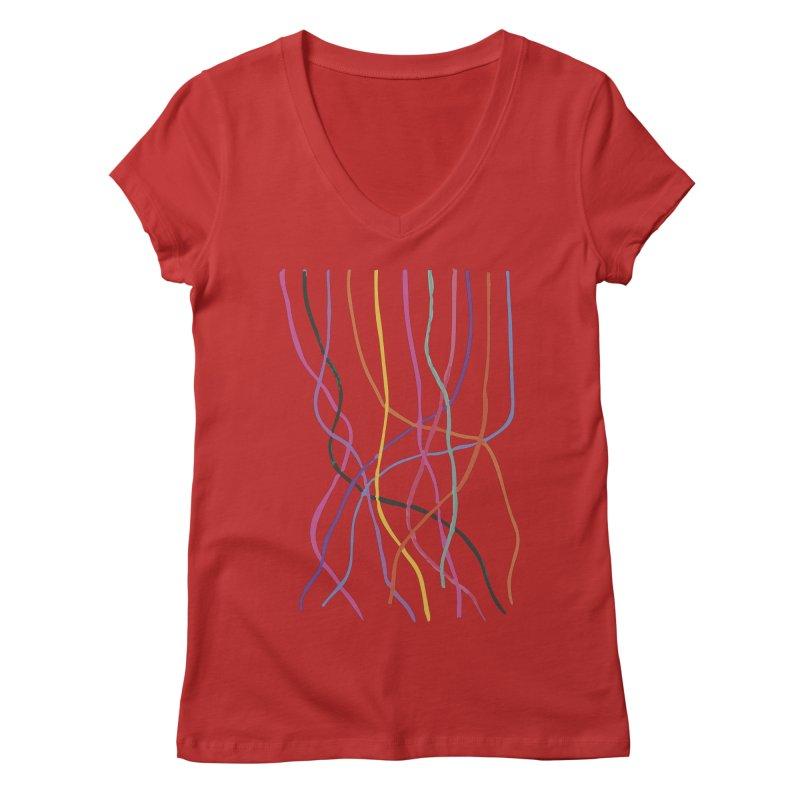 abstract 4 Women's Regular V-Neck by sebastiansrd's Artist Shop