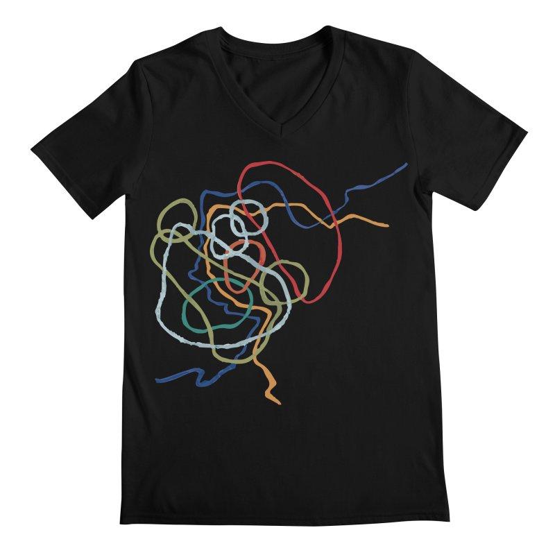 abstract 6 Men's Regular V-Neck by sebastiansrd's Artist Shop