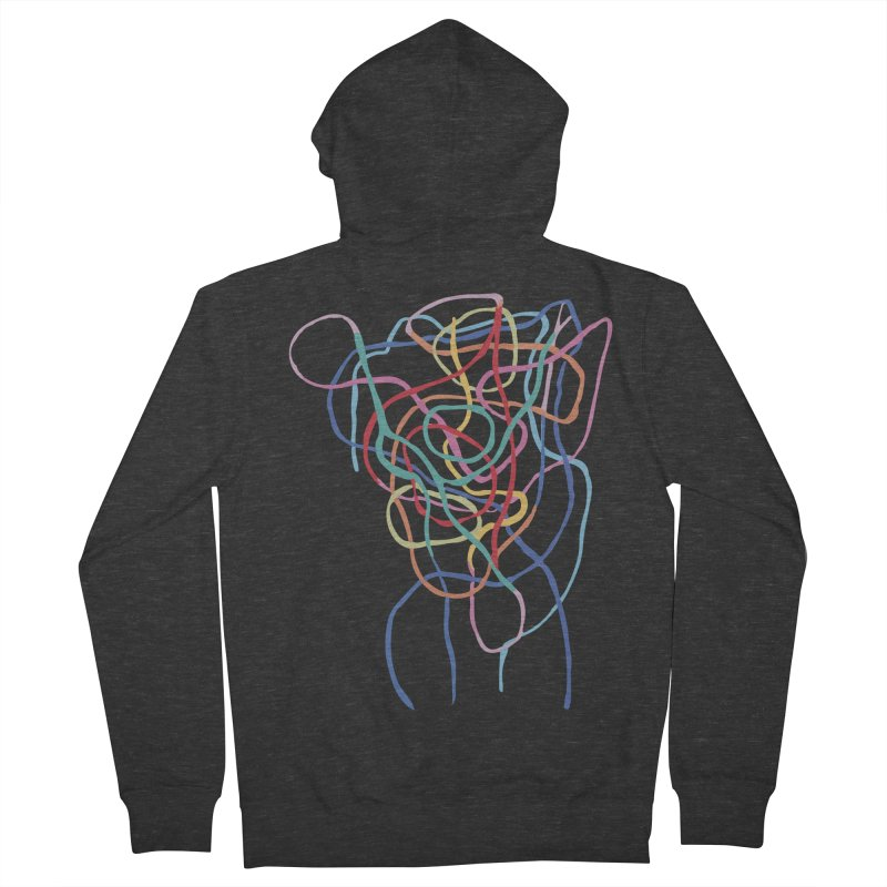 abstract 7 Men's French Terry Zip-Up Hoody by sebastiansrd's Artist Shop