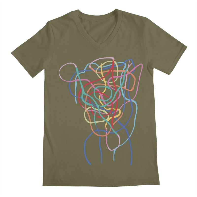 abstract 7 Men's Regular V-Neck by sebastiansrd's Artist Shop