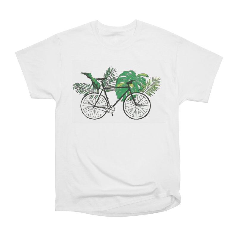 bike and plants Women's Heavyweight Unisex T-Shirt by sebastiansrd's Artist Shop
