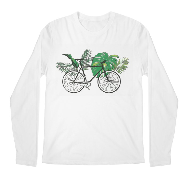 bike and plants Men's Regular Longsleeve T-Shirt by sebastiansrd's Artist Shop