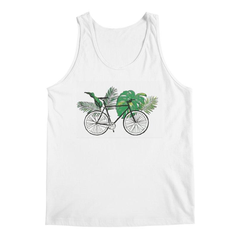 bike and plants Men's Regular Tank by sebastiansrd's Artist Shop