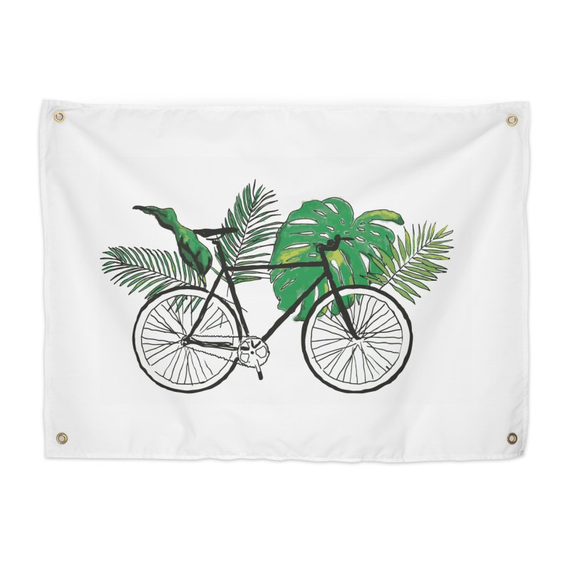 bike and plants Home Tapestry by sebastiansrd's Artist Shop